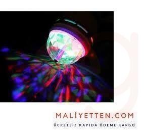 Döner Başlıklı Disco Ampül Led Işıklı Kargo Ücretsiz