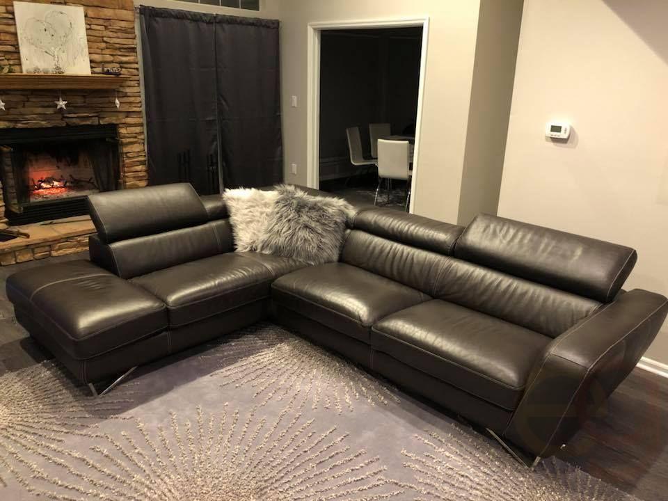 Nicoletti Italian Leather Sofa With