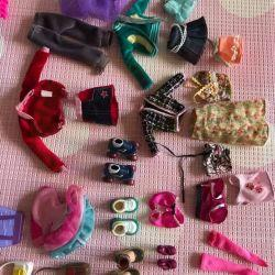 Barbie dolls, furniture, clothes and accessories