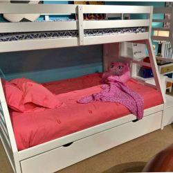 Twin/full bunk bed with steps and trundle $799 $39 down no credit Check financing