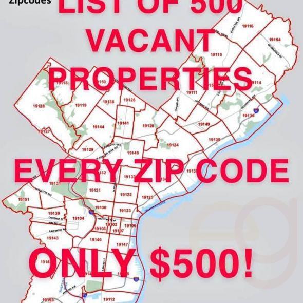 500 Vacant Properties
