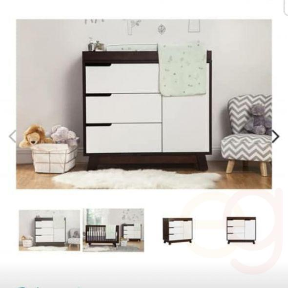 Babyletto Mercer 3-in-1 Convertible Crib and Hudson 3-Drawer Changing Dresser