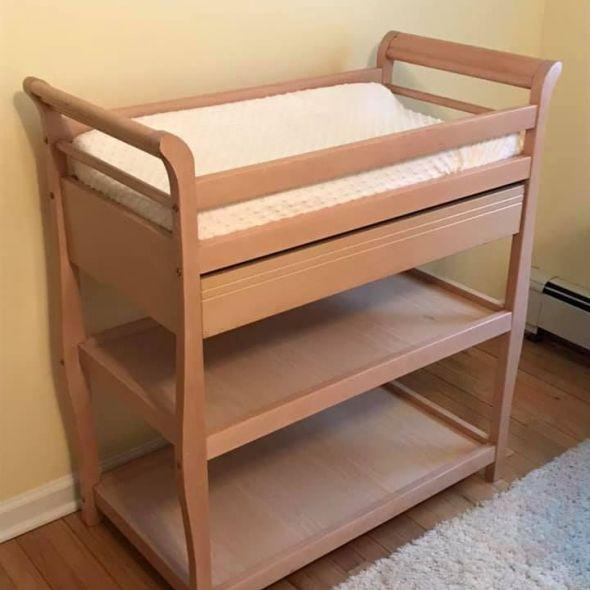 Changing table with new pad and cover
