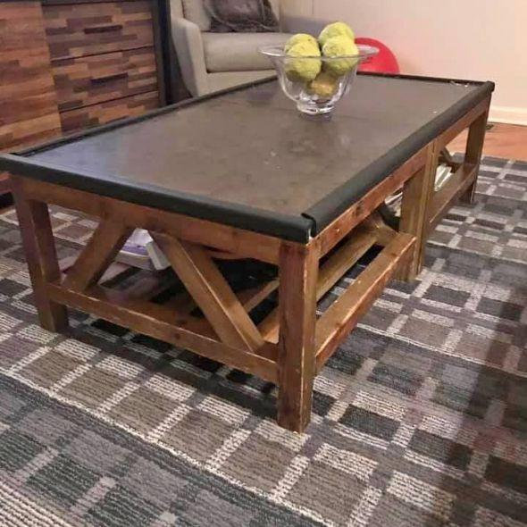 Crate & Barrel Blue Stone Tables