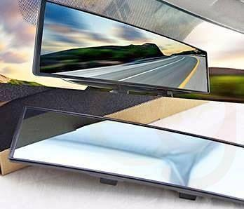 Interior rearview mirror with wide viewing angle easily assembled Free Shipping Limited Stock