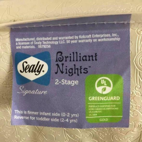 Sealy Crib Mattress, sheets and mattress cover