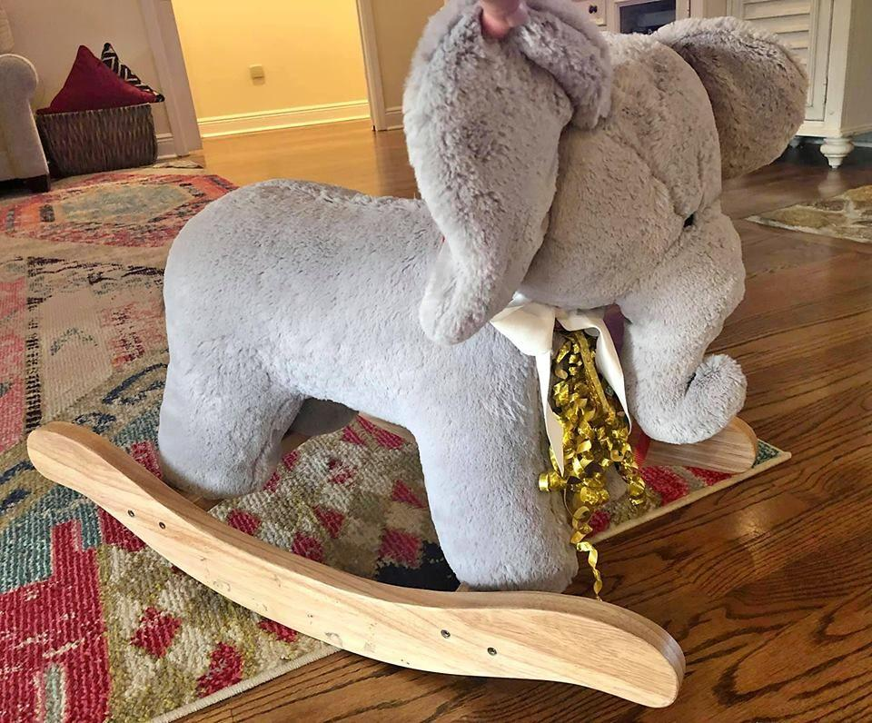 Pottery Barn Kids Elephant Rocker Rocking Horse Toy In