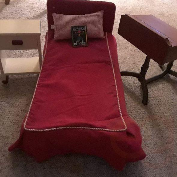 America girl doll bed, desk, and dresser