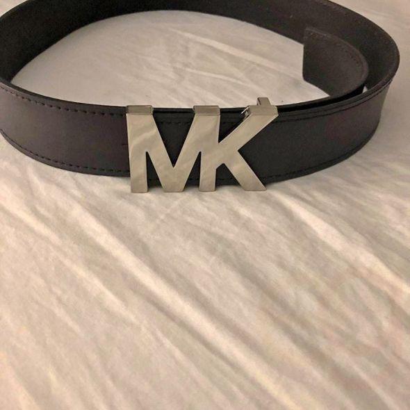 Black Leather Michael Kors Belt