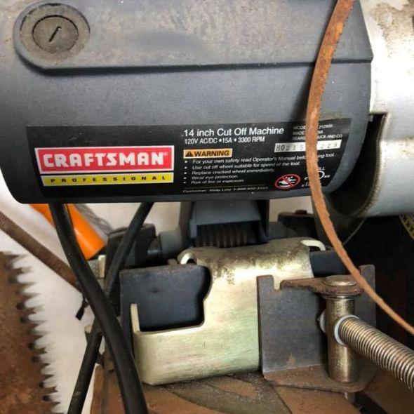 Craftsman professional 14 in cutoff saw