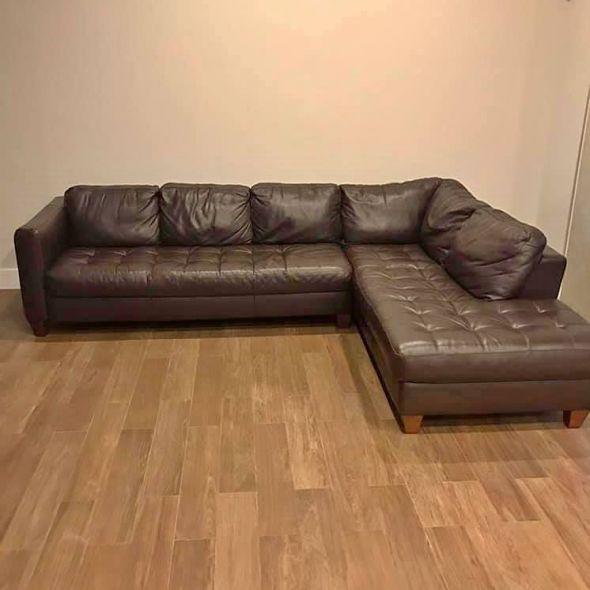 Sensational Espresso Leather Natuzzi Sectional Sofa In Furniture Ibusinesslaw Wood Chair Design Ideas Ibusinesslaworg