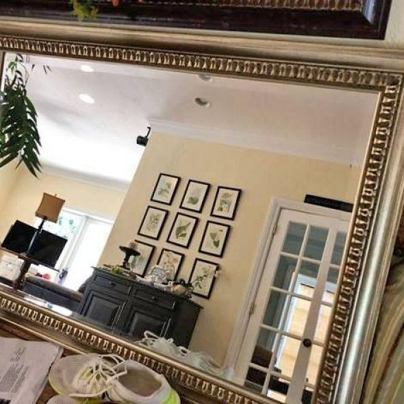 Gorgeous Gold Beveled Mirror