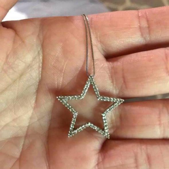 Helzberg Diamond white gold necklace originally $150