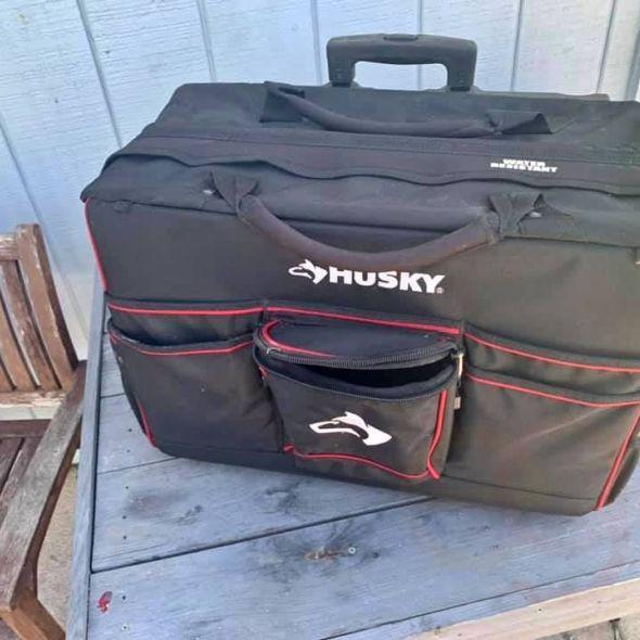 "Husky GP-44449N13 22"" Pro Grade Rolling Tote Tool bag"