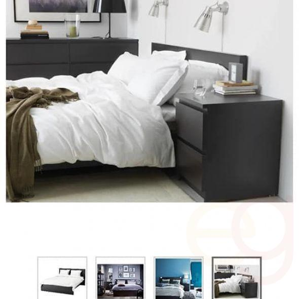 huge discount b3755 a7144 Ikea Malm Bed Frame, Mattress And Night Stands. In Furniture