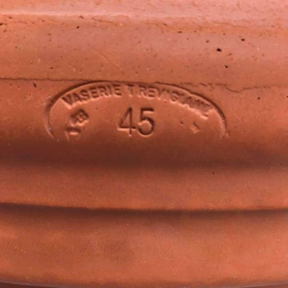 Italian maker's mark terra cotta clay planter pot