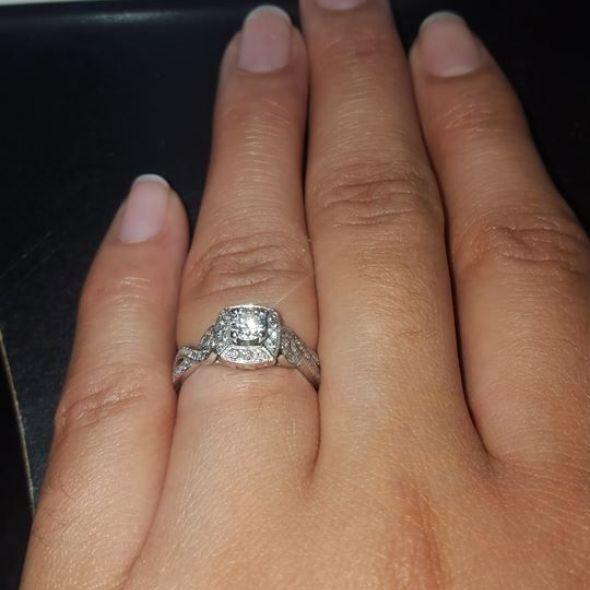 Kay Jewelers (14K white gold real diamond Ring)
