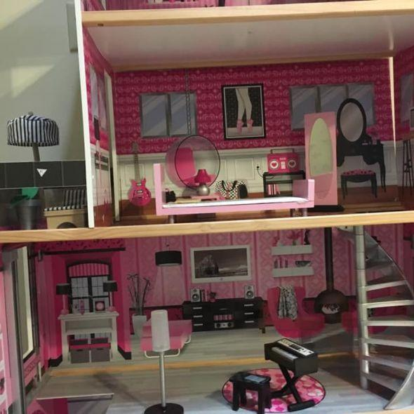 Large doll house with garage