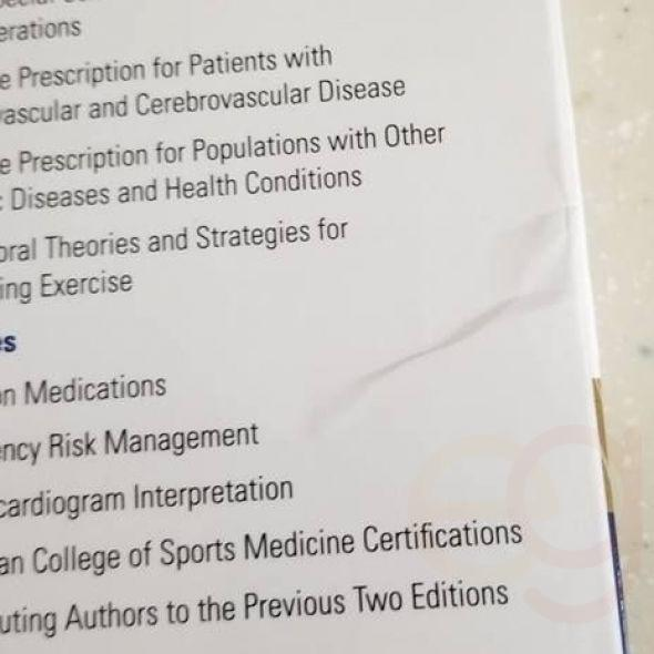 Set of 3 ACSM Books: Resources for HFS, Certification Review, Guidelines for Exercise Testing & Rx
