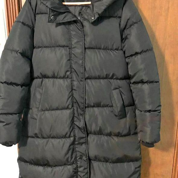Thick Down hooded coat. Lightweight, warm