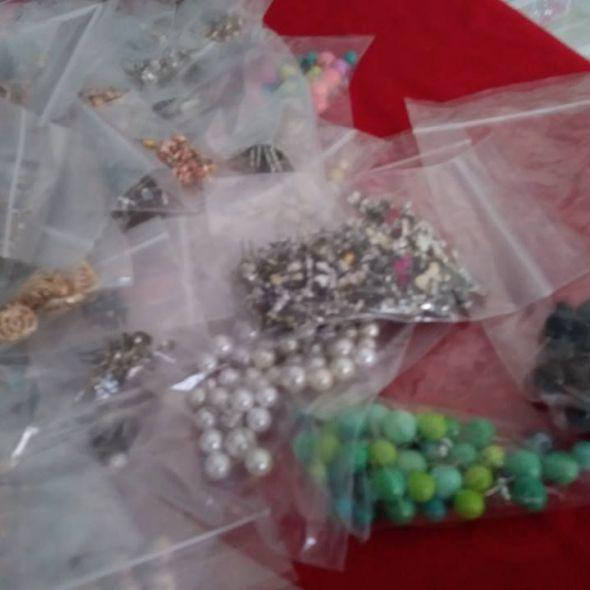 tons of small stud earrings