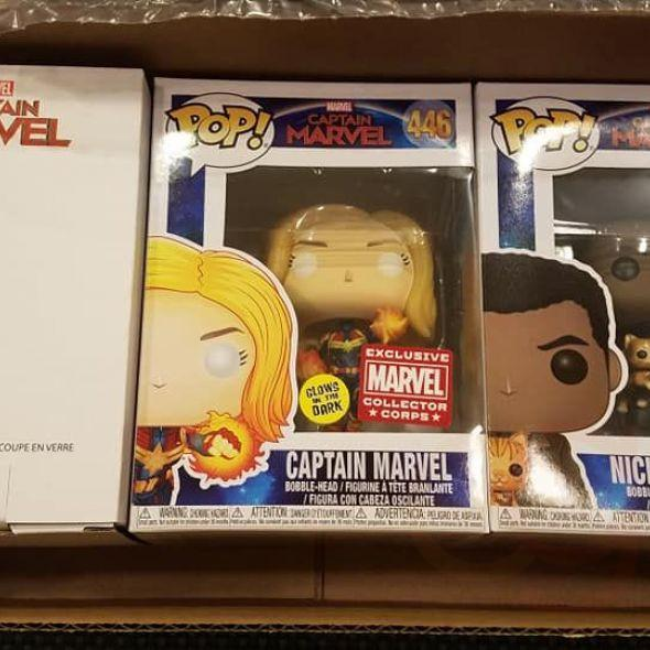 vel Collector Corps Captain Marvel Box