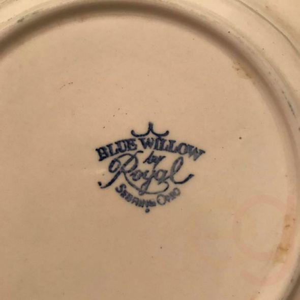 Vintage Blue Willow by Royal Sebring Ohio