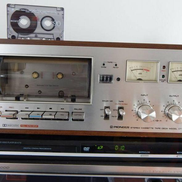 Vintage Pioneer Ct-F6262 Stereo Cassette Deck In Electronics