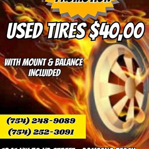 WHOLESALE NEW E USED TIRES (WE HAVE THE BEST PRICE)